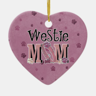 Westie MOM Christmas Ornament