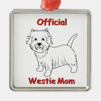 Westie Mom Christmas Ornament