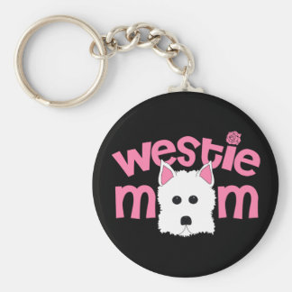Westie Mom Key Ring