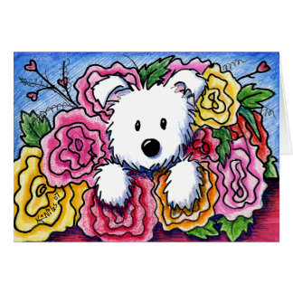 Westie Mother's Day Bouquet Card