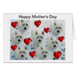 Westie Mother's Day Card Mum mummy nana wife