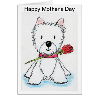 Westie Mother's Day card mum nana mummy