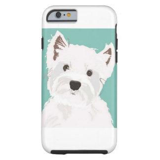 Westie on Blue Tough iPhone 6 Case