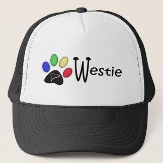 Westie Paw Print Digital Art Trucker Hat