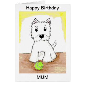 WESTIE PERSONALISED BIRTHDAY CARD