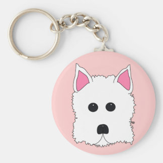 Westie Portrait Key Ring