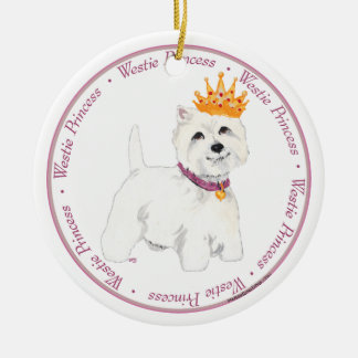 Westie Princess Ornament