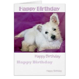 Westie Pup Card