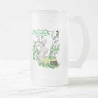 Westie Puppy 2 St Pattys Day Spiritual Message Mug