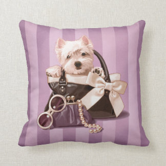 Westie puppy in Handbag Cushion