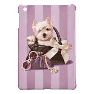 Westie puppy in Handbag iPad Mini Covers