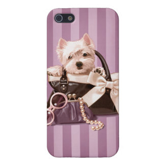Westie puppy in Handbag iPhone 5/5S Cover