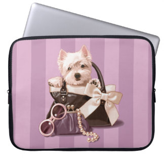 Westie puppy in Handbag Laptop Computer Sleeves