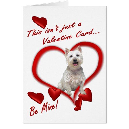 Westie Puppy Love In An Envelope - New Version #2 Card