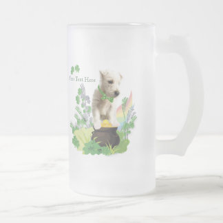 Westie Puppy Number Three -  St Pattys Day Wishes Frosted Glass Mug