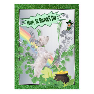 Westie Puppy Number Two Happy St Pattys Day Postcard