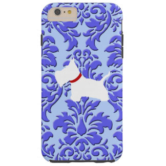 Westie Purple Damask Tough iPhone 6 Plus Case