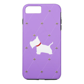 Westie Purple Diamonds iPhone 7 Plus Case