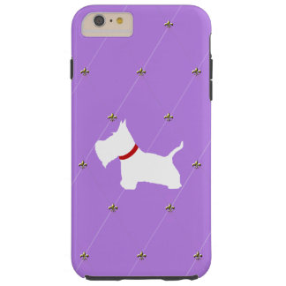 Westie Purple Diamonds Tough iPhone 6 Plus Case