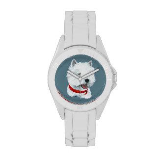 Westie Red Collar Wrist Watches