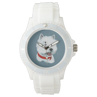 Westie Red Collar Watches