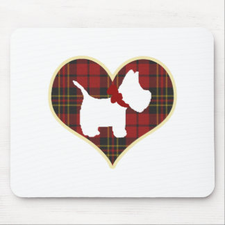 Westie Right Mouse Mat