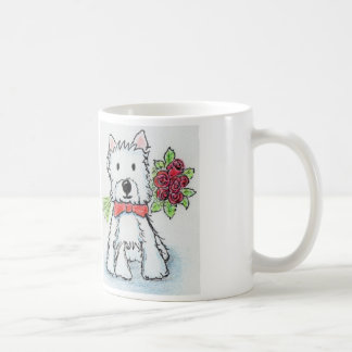 Westie roses mug Birthday Christmas friend wife