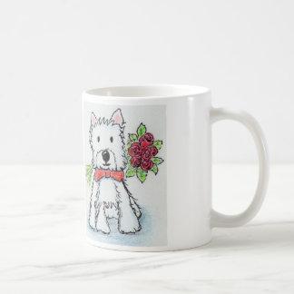 Westie roses mug Birthday Christmas friend wife