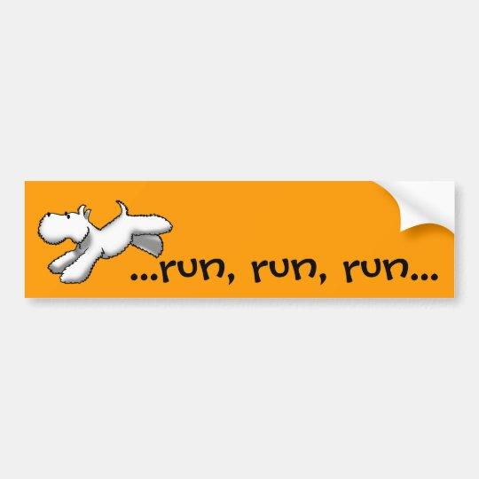 Westie Run Bumper Sticker