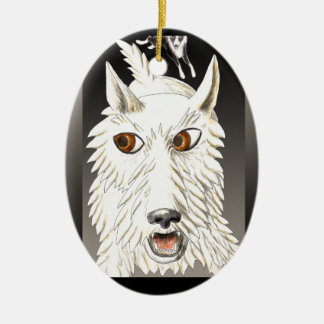 Westie Running Ornament
