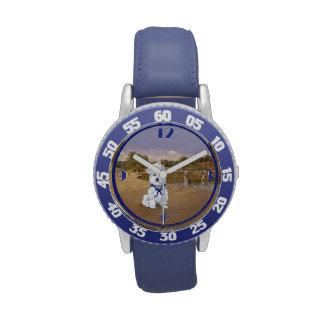 Westie Sailboats Wrist Watches