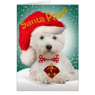 Westie Santa Christmas Cards