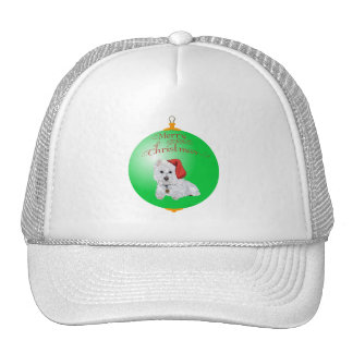 Westie Santa's Helper Ornament Trucker Hat