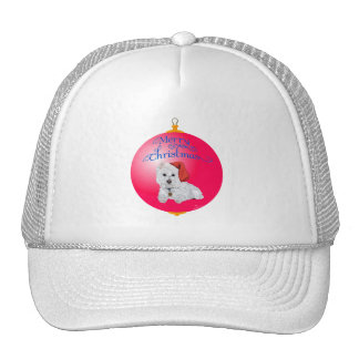 Westie Santa's Helper Ornament Hat