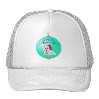 Westie Santa's Helper Ornament Hats