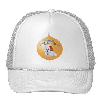 Westie Santa's Helper Ornament Mesh Hat
