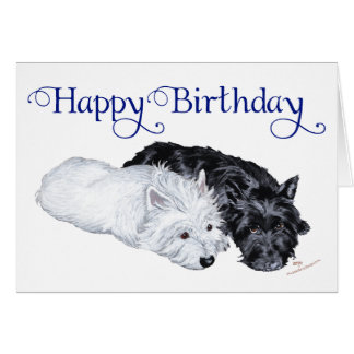 Westie & Scottie at Ease Greeting Card