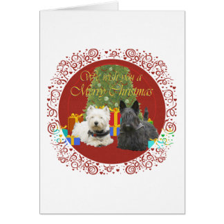 Westie & Scottie Merry Christmas Card