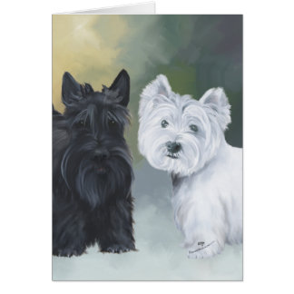 Westie Scottie Wintertime Card