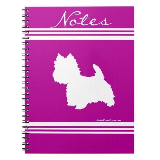 Westie Silhouette Notebook