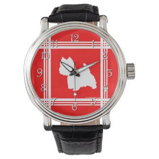 Westie Silhouette Red Wristwatch