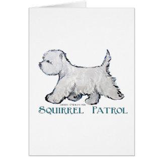 Westie Squirrel Patrol Greeting Cards
