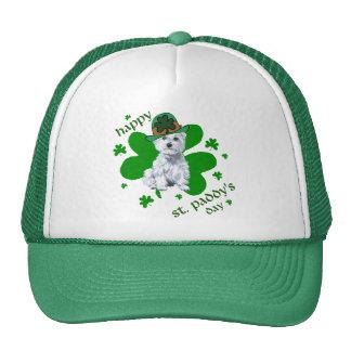 Westie St Patricks Day Hats