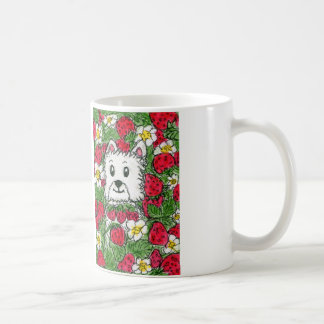 Westie Strawberry Patch Mug Lovely Birthday etc.