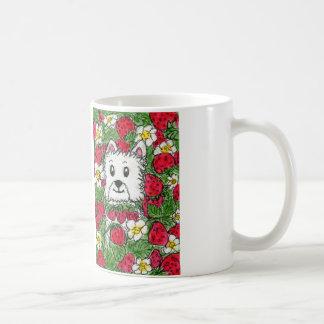 Westie Strawberry Patch Mug Lovely Birthday etc