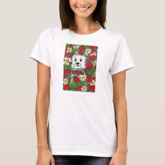 Westie strawberry patch t shirt birthday mum etc