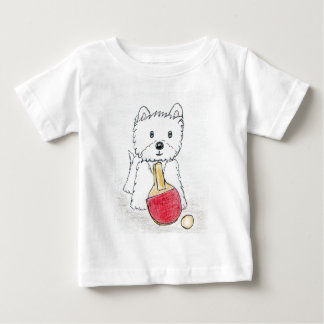 WESTIE TABLE TENNIS BABY T-Shirt