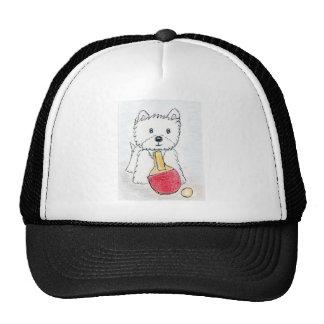 WESTIE TABLE TENNIS MESH HATS