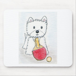 WESTIE TABLE TENNIS MOUSE MAT