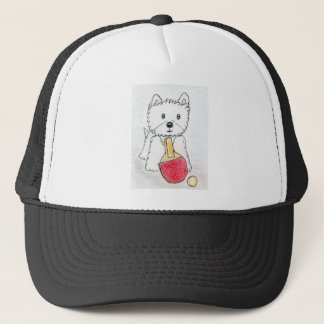 WESTIE TABLE TENNIS TRUCKER HAT